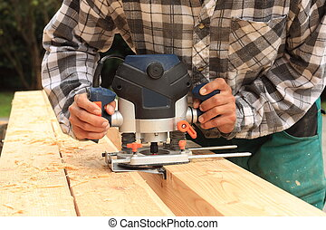 Electric milling machine - Carpenter milled wood upper hand ...
