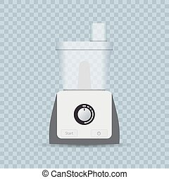 electric mixer, food processor on transparent background.. Realistic vector illustration.