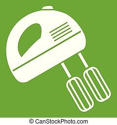 Electric mixer icon green
