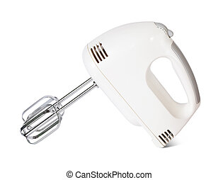 electric mixer on white background