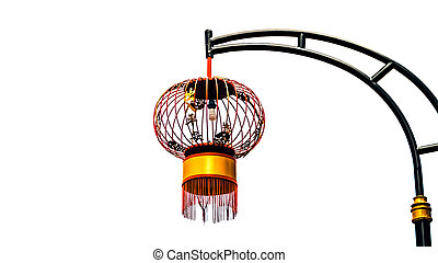electric modern chinese red lantern