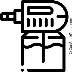 Electric Mosquito Icon Vector Outline Illustration