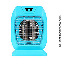 electric mosquito trap with a UV attractor lamp isolated on ...