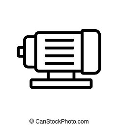 electric motor icon vector outline illustration