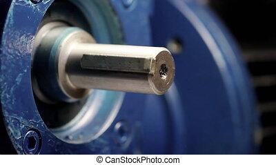 Electric motor in laboratory - Big blue electric motor ...