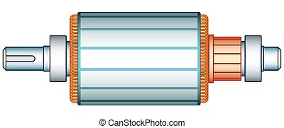 Electric motor rotor - Illustration of the electric motor...