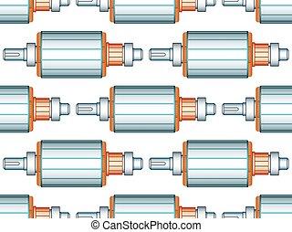 Electric motor rotor pattern