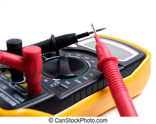 Electric multimeter - Closeup view of a multi functional...