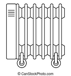 Electric oil heater icon, outline style