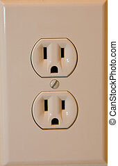 Electric Outlet - A standard home Electrical Outlet close up