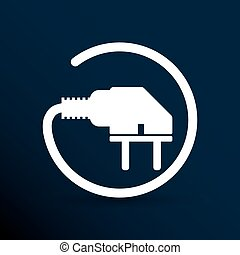 Electric outlet icon plug cord power vector