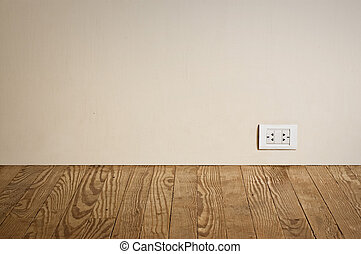 electric outlet in old wall. - electric outlet in a wall in ...