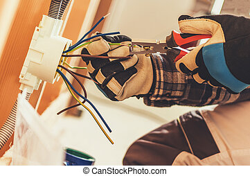 Electric Outlet Installation by Electrician
