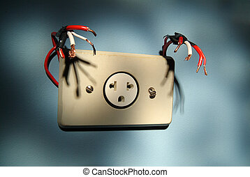 Electric outlet monster.