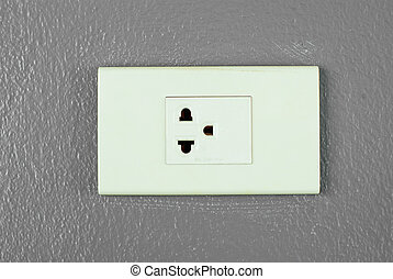 Electric outlet on the wall