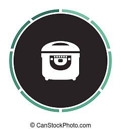 electric pan computer symbol
