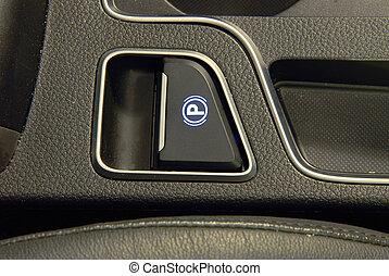electric parkbrake button