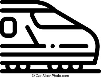 electric passenger train icon vector outline illustration