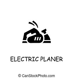 Electric Planer flat vector icon