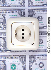 electric plug and money