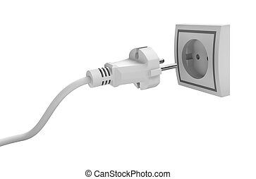 Electric plug isolated on white background