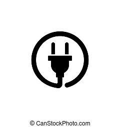 Electric Plug Flat Vector Icon