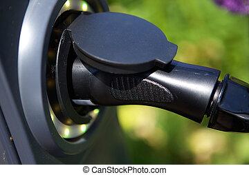 Electric plug for hybrid car