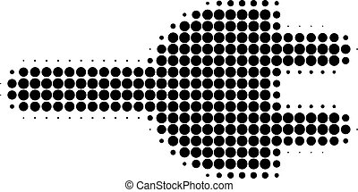 Electric Plug Halftone Dotted Icon