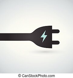 electric plug icon, charging station vector sign, isolated...
