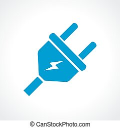 Electric plug icon - Electric plug vector icon