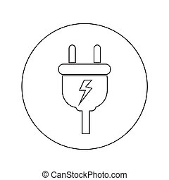 Electric plug icon illustration design