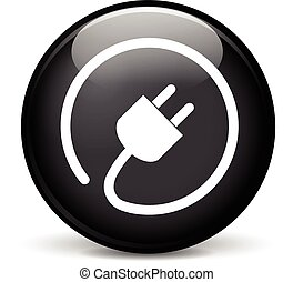 electric plug icon - Illustration of electric plug modern...