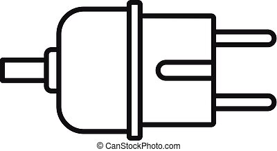 Electric plug icon, outline style