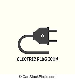 Electric plug icon simple flat style vector illustration.
