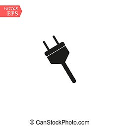 Electric plug icon. Vector concept illustration for design.