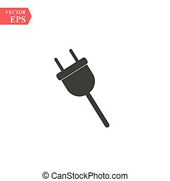 Electric plug icon. Vector concept illustration for design. eps 10