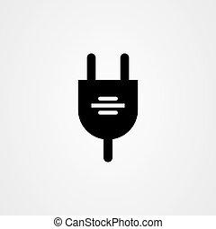 Electric plug icon vector design.