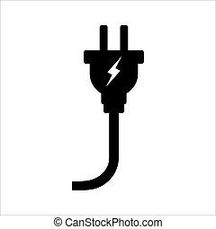 Electric plug icon. Vector illustration. Eps 10.