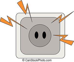 Electric plug illustration vector on white background