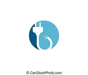 electric Plug logo vector