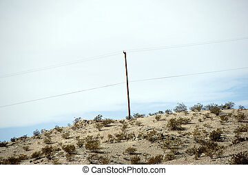Electric pole in the desert