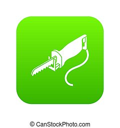 Electric pole saw icon green