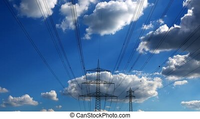 Electric Poles and Clouds