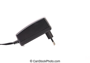 Electric power adapter. Close up.