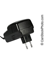 Electric  power adapter, isolated on white background