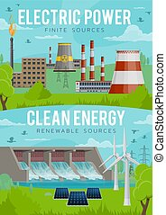Electric power, eco clean energy generation