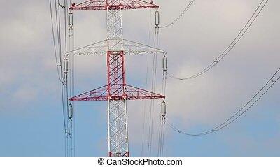 Electric power lines - High voltage power line pylon