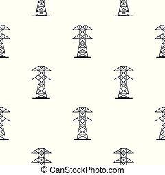 Electric power station pattern seamless