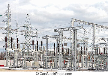 Electric power substation - High voltage electric power...