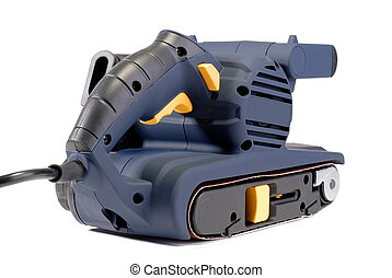 Power Tool - Electric Power Tool Belt Sander, Isolated Over...
